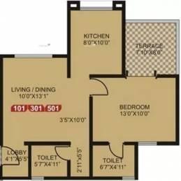 750 sqft, 1 bhk Apartment in GK Rose Icon Pimple Saudagar, Pune at Rs. 13000