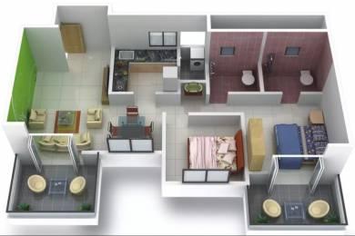 1139 sqft, 2 bhk Apartment in GoldFinger Tamara  Rahatani, Pune at Rs. 15000