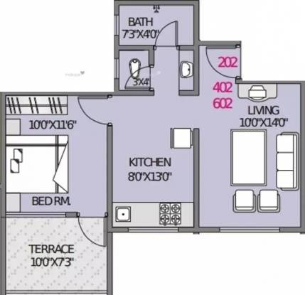 637 sqft, 1 bhk Apartment in Nisarg Hardik Phase 2 Rahatani, Pune at Rs. 11000