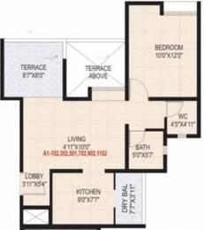 645 sqft, 1 bhk Apartment in Sanskruti Casa Imperia Wakad, Pune at Rs. 11500