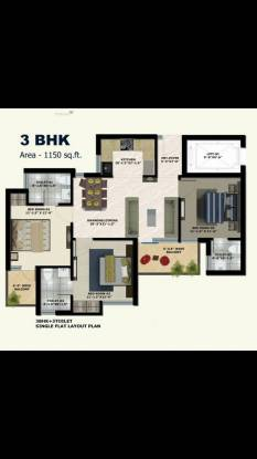 1150 sqft, 3 bhk Apartment in Builder The Address 3BHK Apartments in Mullanpur Mullanpur, Mohali at Rs. 38.9000 Lacs