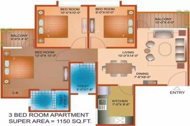 1150 sqft, 3 bhk Apartment in Avalon Residency Phase I Sector 32 Bhiwadi, Bhiwadi at Rs. 23.0000 Lacs