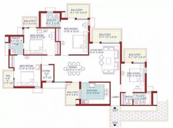 2754 sqft, 4 bhk Apartment in AWHO Sispal Vihar Sector 49, Gurgaon at Rs. 2.0000 Cr