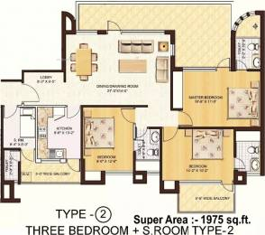 1975 sqft, 3 bhk Apartment in Spaze Privy Sector 72, Gurgaon at Rs. 27000