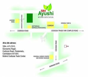 1408 sqft, 3 bhk Apartment in SBA Ayushi Peelamedu, Coimbatore at Rs. 66.3600 Lacs