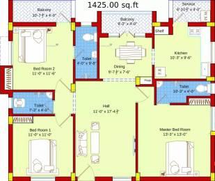 1425 sqft, 3 bhk Apartment in SBA Ayushi Peelamedu, Coimbatore at Rs. 67.1250 Lacs