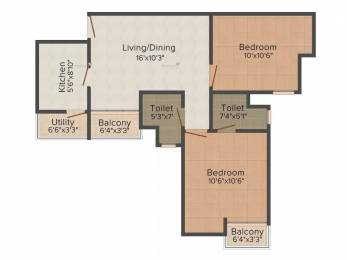 985 sqft, 2 bhk Apartment in Paras Seasons Sector 168, Noida at Rs. 38.4000 Lacs