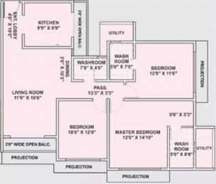 1656 sqft, 3 bhk Apartment in Ekta Tripolis Goregaon West, Mumbai at Rs. 3.0000 Cr