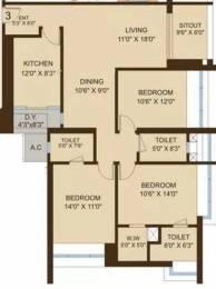 1820 sqft, 3 bhk Apartment in DB Orchid Woods Goregaon East, Mumbai at Rs. 3.1500 Cr