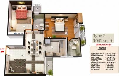 1041 sqft, 2 bhk Apartment in Proview Officer City Raj Nagar Extension, Ghaziabad at Rs. 7000