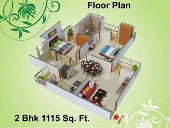 1115 sqft, 2 bhk Apartment in Charms Castle Raj Nagar Extension, Ghaziabad at Rs. 7500