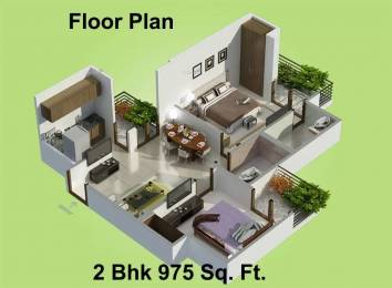975 sqft, 2 bhk Apartment in Charms Castle Raj Nagar Extension, Ghaziabad at Rs. 6300