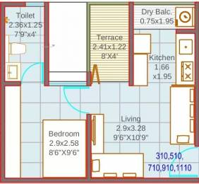 346 sqft, 1 bhk Apartment in Mantra 7 Hills Dhayari, Pune at Rs. 25.0000 Lacs