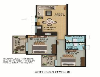 948 sqft, 2 bhk Apartment in OSB Golf Heights Sector 69, Gurgaon at Rs. 23.0950 Lacs