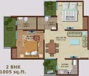 1005 sqft, 2 bhk Apartment in MR Palm Resort Raj Nagar Extension, Ghaziabad at Rs. 31.0000 Lacs