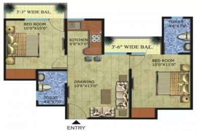 780 sqft, 2 bhk Apartment in Radicon Vedantam Sector 16C Noida Extension, Greater Noida at Rs. 23.4000 Lacs