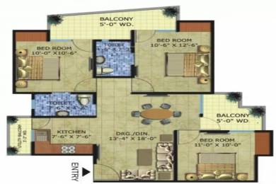 1196 sqft, 3 bhk Apartment in Radicon Vedantam Sector 16C Noida Extension, Greater Noida at Rs. 35.8800 Lacs