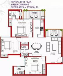 1578 sqft, 3 bhk Apartment in Tulip Violet Sector 69, Gurgaon at Rs. 96.6000 Lacs
