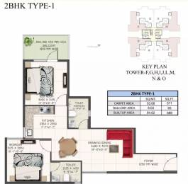 689 sqft, 2 bhk Apartment in Supertech The Valley Sector 78, Gurgaon at Rs. 22.0950 Lacs