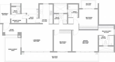 2895 sqft, 3 bhk Apartment in TATA Gurgaon Gateway Sector 113, Gurgaon at Rs. 2.2120 Cr
