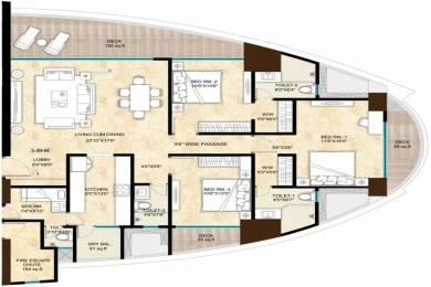 2713 sqft, 3 bhk Apartment in Sunteck Sunteck Signia High Kandivali East, Mumbai at Rs. 4.7500 Cr