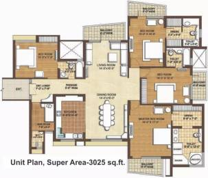 3025 sqft, 4 bhk Apartment in Omaxe The Forest Spa Sector 43, Faridabad at Rs. 2.6500 Cr