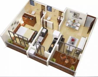 672 sqft, 1 bhk Apartment in Ashapura Neelkanth Shrushti Kalyan West, Mumbai at Rs. 8000