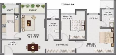 1161 sqft, 2 bhk Apartment in TATA Amantra Bhiwandi, Mumbai at Rs. 17000