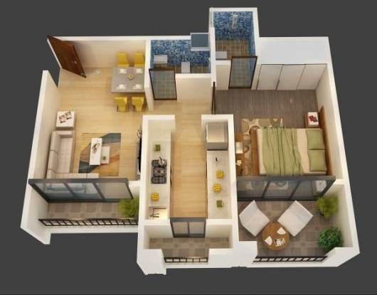 758 sqft, 1 bhk Apartment in Triveni Dynamic Ultima Bliss Kalyan West, Mumbai at Rs. 43.0000 Lacs