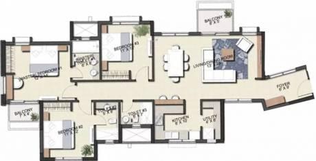 1732 sqft, 3 bhk Apartment in TATA Eden Court Primo New Town, Kolkata at Rs. 20999