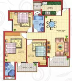 1700 sqft, 3 bhk Apartment in Cosmos Golden Heights Crossing Republik, Ghaziabad at Rs. 7500