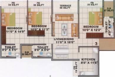 1678 sqft, 3 bhk Apartment in Shree Sai Developers Mumbai Apramit Seawoods, Mumbai at Rs. 1.9500 Cr