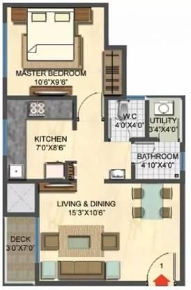 774 sqft, 1 bhk Apartment in Lodha Casa Rio Dombivali, Mumbai at Rs. 9000