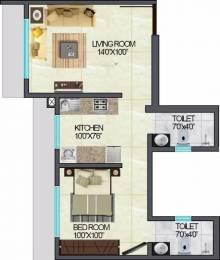 385 sqft, 1 bhk Apartment in Crescent Residency Andheri East, Mumbai at Rs. 33000
