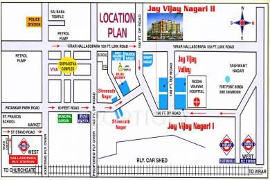 850 sqft, 2 bhk Apartment in Shree Parasnath Jay Vijay Nagari No 2 Nala Sopara, Mumbai at Rs. 26.9100 Lacs