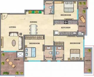 1990 sqft, 3 bhk Apartment in Hubtown Sunstone Bandra East, Mumbai at Rs. 4.7200 Cr