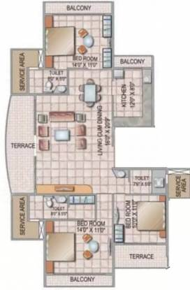 2472 sqft, 3 bhk Apartment in Siddhi Grandeur Kharghar, Mumbai at Rs. 35000