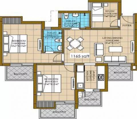 1165 sqft, 2 bhk Apartment in ATS Homekraft Happy Trails Sector 10 Noida Extension, Greater Noida at Rs. 40.9400 Lacs