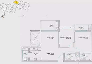 1334 sqft, 2 bhk Apartment in Assetz Lumos Yeshwantpur, Bangalore at Rs. 1.1000 Cr