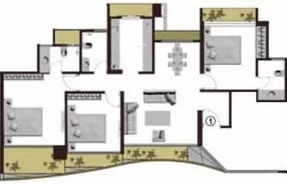1541 sqft, 3 bhk Apartment in Adhiraj Cyprees Aqua Kharghar, Mumbai at Rs. 30000