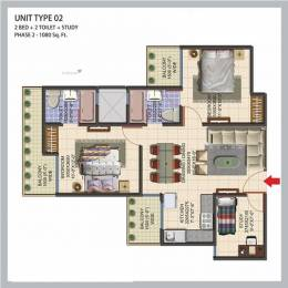 1080 sqft, 2 bhk Apartment in Morpheus Pratiksha Sector 1 Noida Extension, Greater Noida at Rs. 27.0000 Lacs
