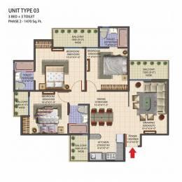 1470 sqft, 3 bhk Apartment in Morpheus Pratiksha Sector 1 Noida Extension, Greater Noida at Rs. 38.2200 Lacs