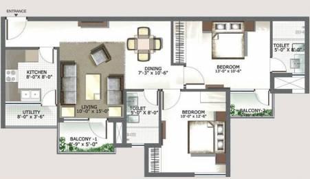 1183 sqft, 2 bhk Apartment in 3C Lotus Boulevard Sector 100, Noida at Rs. 17000