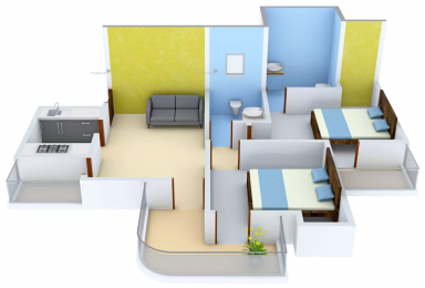 1110 sqft, 2 bhk Apartment in Stellar MI Citihomes Omicron, Greater Noida at Rs. 10000