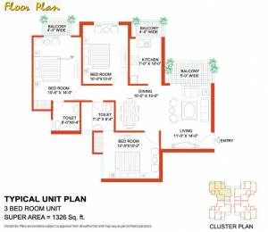 1326 sqft, 3 bhk Apartment in Tulip White Sector 69, Gurgaon at Rs. 82.0000 Lacs