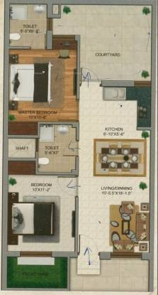 900 sqft, 2 bhk Villa in Shri Radha Florence Vrindavan, Mathura at Rs. 29.5000 Lacs