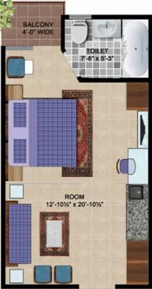429 sqft, 1 bhk Apartment in Express Hare Krishna Orchid Vrindavan, Mathura at Rs. 15.2100 Lacs