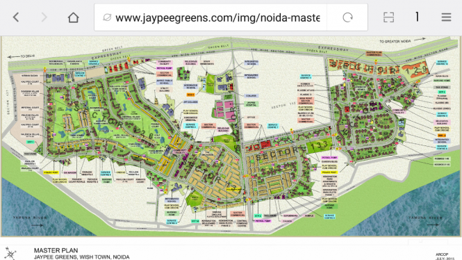 1380 sqft, 3 bhk Apartment in Jaypee Kosmos Sector 134, Noida at Rs. 46.5000 Lacs