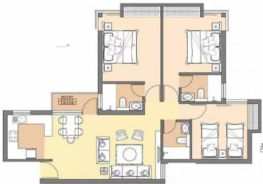 1200 sqft, 3 bhk Apartment in Jaypee Aman Sector 151, Noida at Rs. 37.0000 Lacs