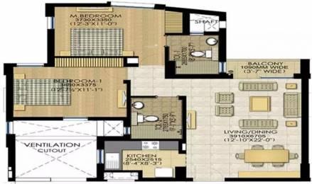 1150 sqft, 2 bhk Apartment in Jaypee Klassic Sector 129, Noida at Rs. 44.0000 Lacs